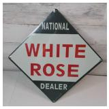 *NEW* National White Rose Dealer Metal Sign 17""