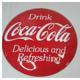 "Coca-Cola Tin Button 14"" Diameter"