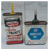 Vintage True Value & Napa Oil Cans