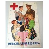 "WWII Poster American Junior Red Cross 14.5"" x22.5"""