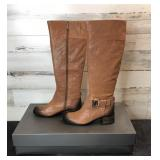 Boots - Vince Camuto Finella Brown Shrunken Goat