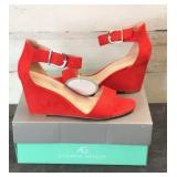 Shoes - Andrew Geller Beth Poppy Red Women