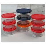 Glass Pyrex Storage Dishes w Lids