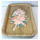Vintage Serving Trays Flower Lot of 6