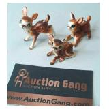 Vintage Bone China Baby Deer Figurines