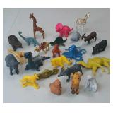 Vintage Group of Plastic and Rubber Animals