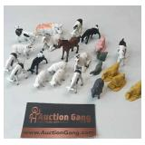 Vintage Group of Small Farm Animals Made in Hong