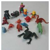 Vintage Lot of Toys Rubber Pencil Toppers, Barney