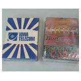 *NEW* Iowa Telecom and Bud Sports Playing Cards