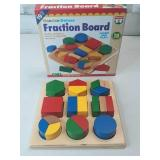 *NEW* Wooden Deluxe Fraction Board 18 Piece Puzzle