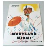 Maryland Miami Orange Bowl October 22nd 1954