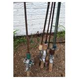 Fishing Rods & Reel - Lot #5 Fly Rods, Steel Rods