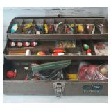 Mastercraft Larger Brown Metal Tackle box full