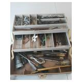 Tackle box full of bits ,screws screwdrivers