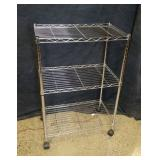 "Metal Rolling Shelf 33""H x 13""D x 22"" W"