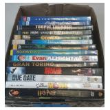 Flat of assortment of dvds  lot of 14