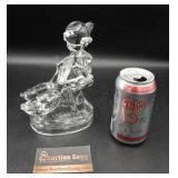 Heavy Glass Ducks & Child Figurine