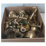 Flat of miscellaneous brass