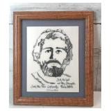 "Jesus engraved  picture 12""×14"""