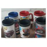 Flat of good guys ,street rod plastic mugs lot of
