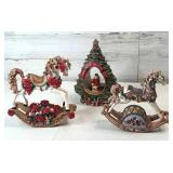 Christmas Rocking Horse music boxes and Christmas