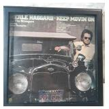 Merle Haggard keep moving on framed album