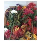 Flat of artificial flowers