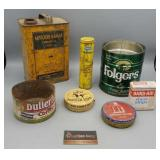 Vintage Group of Tin Cans - Dr. Schol