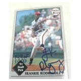 Frankie Rodriguez  91 Draft  Pick Signed Card 149