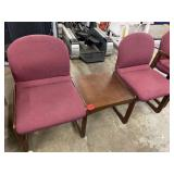 office chair set, 2 chairs, table