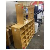 Classroom Wooden Cubby and Ball Rack