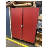 Red Storage Cabinet/ Rolling Closet