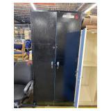 Black Metal Closet/ Cabinet