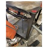 Rolling Metal Cart with Power Strip