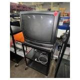 tv and metal tv rolling stand