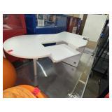 large curved desk