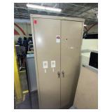tall metal storage cabinet/closet