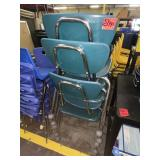 lot of 5 student chairs