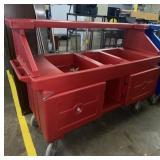 Cambro  Camcruiser Hot Red Vending Cart