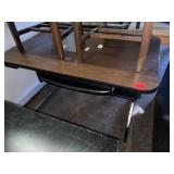 desk with keyboard stand