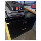 lateral file cabinet, electronic lot, vcr...