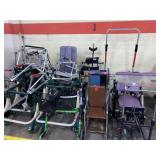 large lot of  wheelchairs, walkers, braces