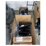Box lot, binders, wifi accessories