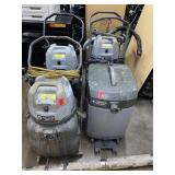 Lot of 4 Industrial Vacuum Cleaners