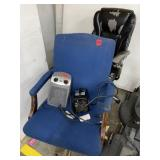 2 Chairs, 2 heaters lot