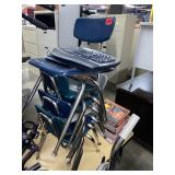 Lot of chairs and 2 wireless keyboards