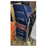 Lot of aprox 10 student chairs