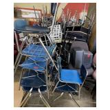 Lot of 7 Student Chairs