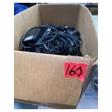 Box lot of cords, chargers