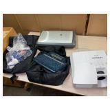 tabletop lot, projector, alpha smart, scanner